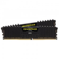 DDR4 2400 CORSAIR 16GB (2x8GB) Vengeance LPX Black CL14