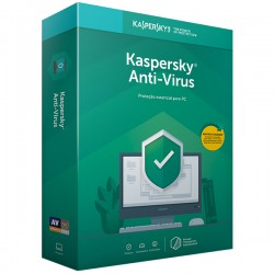 KASPERSKY Anti-Virus 2019 Retail Renovação 3PC/1ANO
