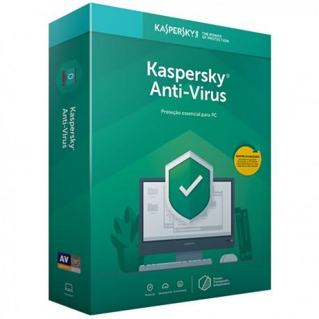 KASPERSKY Anti-Virus 2019 Retail Renovação 3PC/1ANO