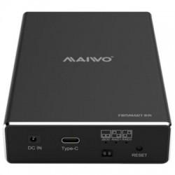 "MAIWO Caixa Externa 2 X HDD 2.5"" SATAIII (TWO-BAY RAID) - USB 3.1 Type-C"