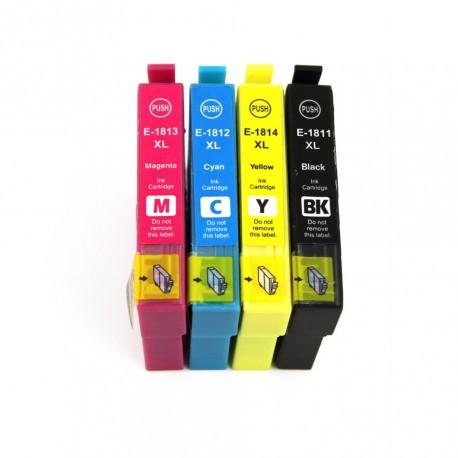 Pack 4 Tinteiros Compatível EPSON 18XL