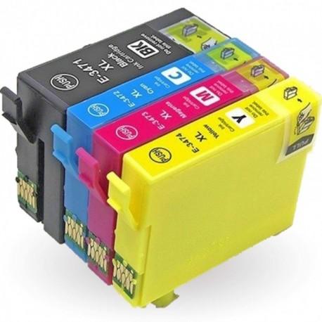 Pack 4 Tinteiros Compatíveis EPSON 34XL
