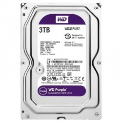 """WD Purple 3TB 3.5"""" SATA3 5400rpm 64MB cache"""