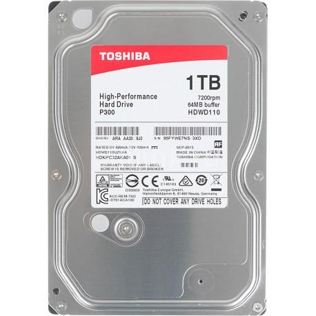 """TOSHIBA 1TB P300 3.5"""" SATA3 7200rpm 64MB cache"""