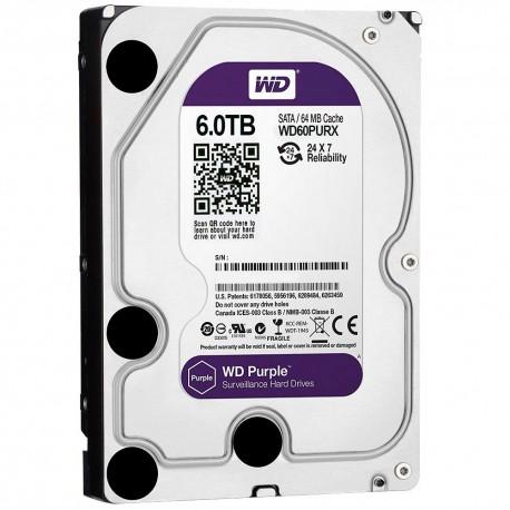"""WD Purple 6TB 3.5"""" SATA3 5400rpm 64MB cache"""