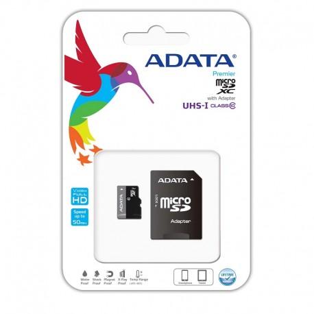 ADATA microSDHC 64GB UHS-I CLASS10 c/ Adaptador