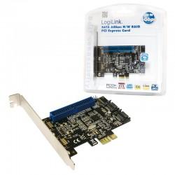 LOGILINK PCIe - 2P Int SATA 6Gb/s + 1P Int ATA IDE