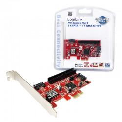LOGILINK PCIe - 2P Int SATA + 1P Int ATA IDE