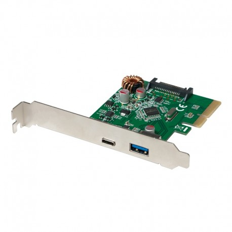 LOGILINK PCIe - 2P Ext USB 3.1 1 TIPO A + 1 TIPO C